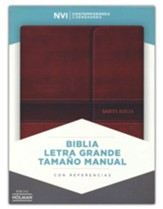 Biblia NVI Letra Grande Tam. Manual, Piel Imit. Marron c/ Cierre  (NVI Lge.Print Handy-Size Bible, Brown Imit.Leather w/ Flap) - Imperfectly Imprinted Bibles