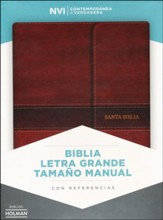 Biblia NVI Letra Gde. Tam.Manual, Piel Imit.Marron, Ind. y Cierre    (NVI Lge.Print Handy-Size Bible, Aqua I.Leather, I. & Flap)
