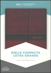 Biblia NVI Compacta Letra Grande, Simil Piel Marron con Cierre  (NVI Compact Large Print Bible, Brown Imit. Leather W/ Flap) - Slightly Imperfect