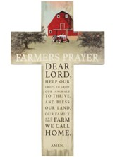 Farmer's Prayer Wall Cross
