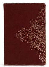 Burgundy Journal with Floral Motif