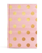Pink with Gold Dots Journal