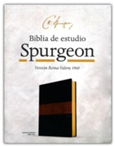 RVR 1960 Biblia de estudio Spurgeon, negro/marron simil piel (Spurgeon Study Bible, soft-leather look)