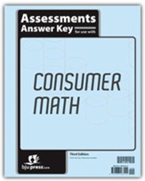 BJU Press Consumer Math Assessments  Key (3rd Edition)