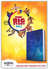 CSB One Big Story Bible--soft leather-look, galaxy