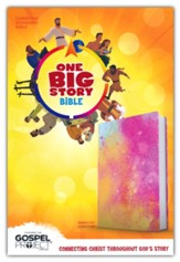 CSB One Big Story Bible--soft leather-look, rainbow dust