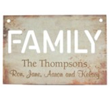 Personalized, Metal Sign, Family