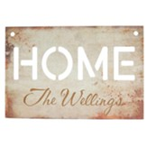 Personalized, Metal Sign, Home