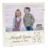 Personalized, Wooden Photo Frame, Baby, White