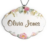 Personalized, Car Charm with Name, Flowers