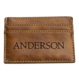 Personalized, Leather Wallet with Name, Brown