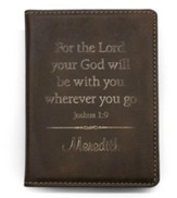 Personalized, Passport Holder, Leather, Brown