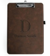 Personalized, Leather Clip Board, Monogram, Brown