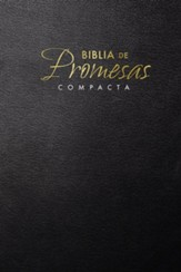 Biblia de Promesas Compacta RVR 1960, rústica, negra  (RVR 1960 Compact Promises Bible, Softcover, Black) - Slightly Imperfect