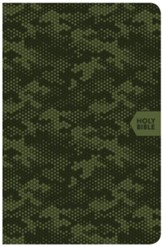 CSB On-the-Go Bible--soft leather-look, green camouflage