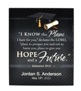 Personalized, Wooden Plaque, Graduation Print, Jeremiah 29:11