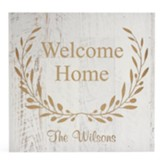 Personalized, Wooden Box, Large, Welcome Home, White