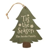 Personalized, Tree Ornament, Tis the Season, Green