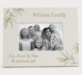 Personalized, Photo Frame with Leaves, 4x6, As For Me and My Family, White