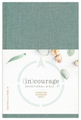 CSB (in)courage Devotional Bible--green cloth over board, indexed