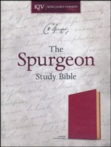 KJV Spurgeon Study Bible--soft  leather-look, crimson