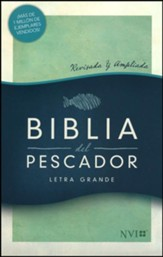 NVI Biblia del Pescador letra grande, verde símil piel (Fisher of Men Large Print Bible, Green LeatherTouch)