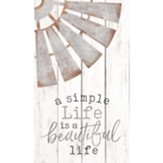 A Simple Life Is A Beautiful Life Pallet Art
