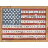 God Bless America, Flag, Framed Art