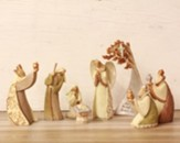 Legacy of Love, Nativity Set with Birch Tree, 8 pieces