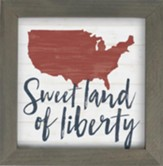 Sweet Land Of Liberty Framed Art