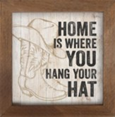 Home Is Where You Hang Your Hat Framed Art