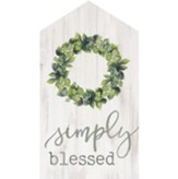 Simply Blessed House Sign