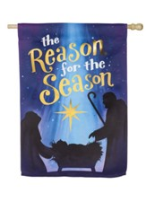 Reason for the Season Suede Flag, Large