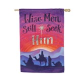 Wise Men Still Seek Him Suede Flag, Large