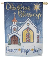 Christmas Blessings Suede Flag, Large