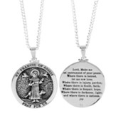St. Francis of Assisi, Pray For Us, Round Necklace