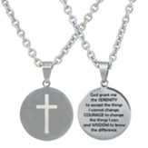 Serenity Prayer, Round Disc, Necklace