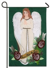 Peace, Love, Hope, Angel Linen Flag, Small
