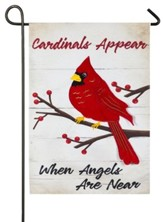 Cardinals Appear When Angels Are Near Linen Flag, Small