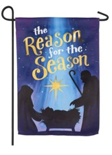 Reason for the Season Suede Flag, Small