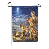 Shepherds Keeping Watch Suede Flag, Small