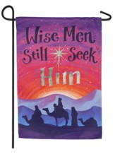 Wise Men Still Seek Him Suede Flag, Small