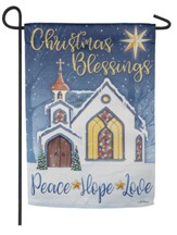 Christmas Blessings Suede Flag, Small