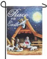 Christmas Manger Suede Flag, Small