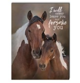 I Will Never Leave You Nor Forsake You, Horses, Wall Art