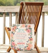 Serenity Prayer, Floral Tote