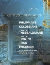 Philippians, Colossians, 1&2 Thessalonians, 1&2 Timothy, Titus, Philemon -  Leader Guide, eBook (Genesis to Revelation Series)