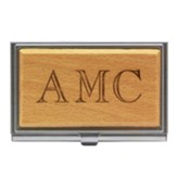 Personalized, Wood Business Card Holder, with Initials