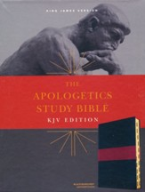 KJV Apologetics Study Bible, Black/Red Leathertouch Imitation Leather