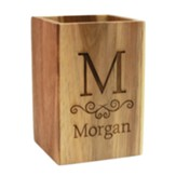 Personalized, Utensil Holder, Monogram, Square
